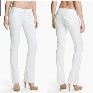 Hudson Beth Baby White Bootcut Jeans